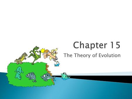 The Theory of Evolution.  Darwin developed the first theory on evolution, which is the basis for modern evolutionary theory ◦ Darwin spent 5 years sailing.