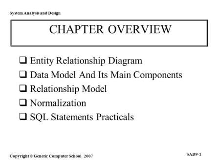 entity relationship approach to information modeling and analysis