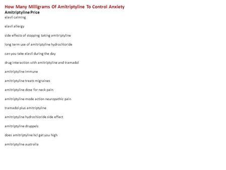 amitriptyline for anxiety