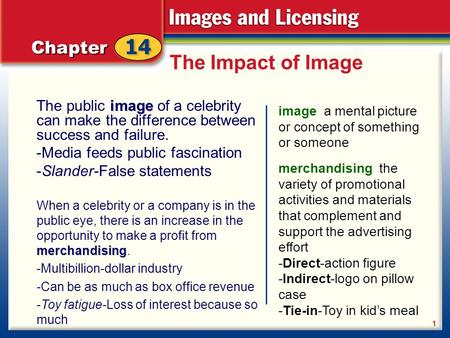 The Impact of Image image The public image of a celebrity can make the difference between success and failure. -Media feeds public fascination -Slander-False.