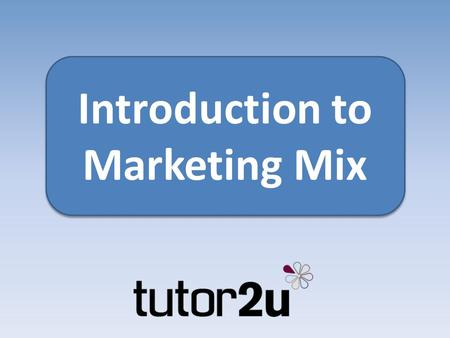 Introduction to Marketing Mix. Introduction The marketing mix covers the way a business uses price, product, promotion and distribution (place) to market.