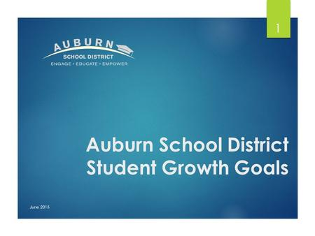 Auburn School District Student Growth Goals June 2015 1.