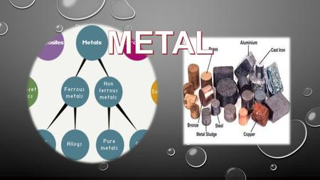 Metals can be either ferrous or non-ferrous. Ferrous metals contain iron while non-ferrous metals do not.Metals can be either ferrous or non-ferrous.