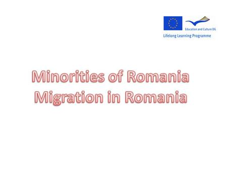 10.5% of Romania's population is represented by minorities (the rest of 89.5% being Romanians). The principal minorities in Romania are Hungarians and.
