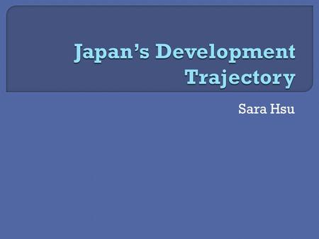 Sara Hsu.  Japan's geography  Followed Western nations in industrialization  Foreign intervention  Population (see map)  Industrialization (see map)
