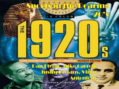 The Roaring Twenties was a decade unlike any other. This decade was a period of social and cultural revolution, especially in areas like sports, fashion,