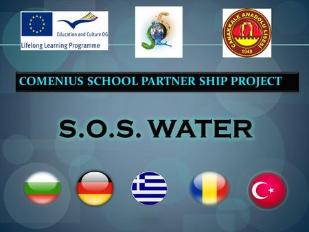 COMENIUS SCHOOL PARTNER SHIP PROJECT. Çanakkale Anatolian High School 1.What is pollution 2.Types of Pollution 3.Causes of pollution 4. What can we do.