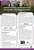 AWARD-WINNING PARTNERSHIP FOR SUSTAINABLE WATER MANAGEMENT CASE STUDY AWARD-WINNING PARTNERSHIP An Abertay MSc project led to a national environmental.