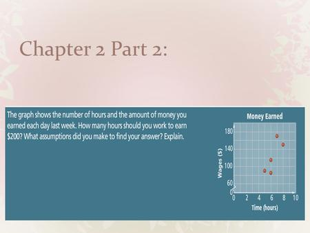 Chapter 2 Part 2:. Concept Byte: Piecewise Functions & Greatest Integer Function.