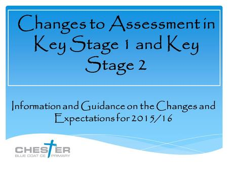 Changes to Assessment in Key Stage 1 and Key Stage 2 Information and Guidance on the Changes and Expectations for 2015/16.