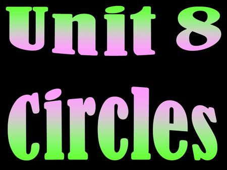 Circle – the set of all points in a plane a given distance away from a center point. A A circle is named by its center point. For example: Circle A.