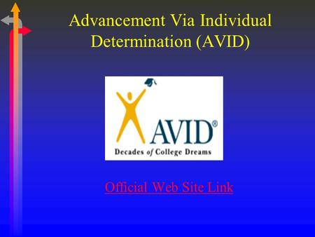 Advancement Via Individual Determination (AVID) Official Web Site Link.