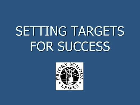 SETTING TARGETS FOR SUCCESS. 1. What are targets? 2. Why are targets a good idea? 3. How do we set the right target? 4. What happens next?