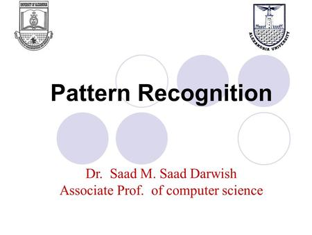 Pattern Recognition. What is Pattern Recognition? Pattern recognition is a sub-topic of machine learning. PR is the science that concerns the description.