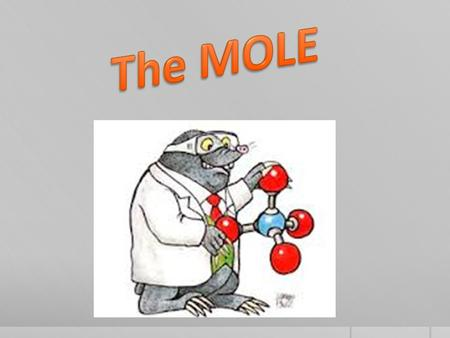 1 dozen =12 1 gross =144 1 ream =500 1 mole = 6.02 x 10 23 (Avogadro's Number) A mole is a Very large Number.