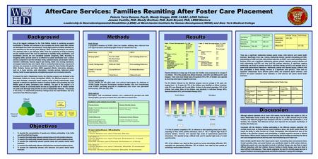 Background Objectives Methods Study Design A program evaluation of WIHD AfterCare families utilizing data collected from self-report measures and demographic.