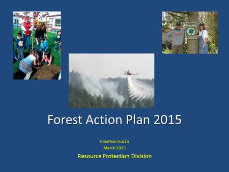 Forest Action Plan 2015 Jonathan Guzzo March 2015 Resource Protection Division.