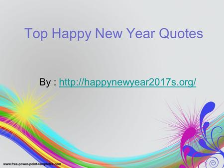 Top Happy New Year Quotes By :