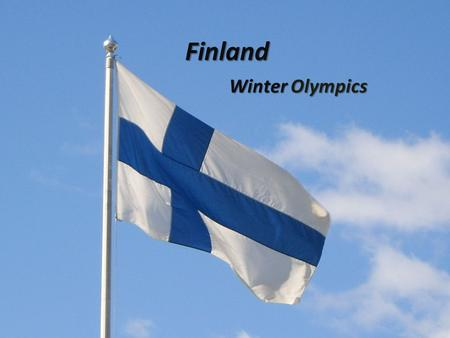 Finland Winter Olympics. Finland is 4,801mi from Kansas Finland's capital is Helsinki.