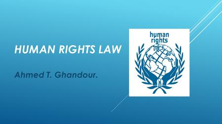 HUMAN RIGHTS LAW Ahmed T. Ghandour.. CHAPTER 3. THE UNITED NATIONS & HUMAN RIGHTS II: OTHER INSTRUMENTS & PROCEDURES.