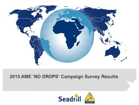 2015 AME 'NO DROPS' Campaign Survey Results. NO-DROPS Campaign – WHY??? 2 Trending indicated that we were not making any improvement against controlling.
