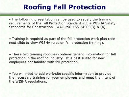 Roofing Fall Protection
