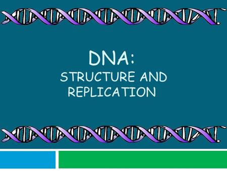 DNA: STRUCTURE AND REPLICATION. DNA: The Code of Life  DNA is the molecule that contains all of the hereditary material for an organism  It is found.