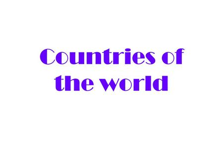 Countries of the world. Australia Capital: Canberra Language: English Adjective: Australian Person: Australian Continent: Oceania.