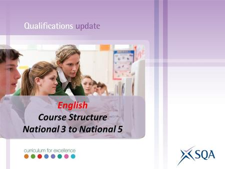 English Course Structure National 3 to National 5.