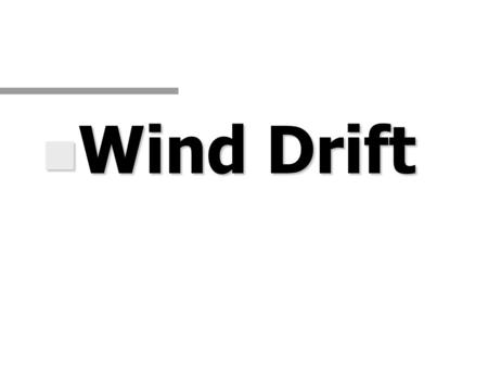 N Wind Drift. Introductory Statement n one must be able to accurately compute a High Altitude Release Point (HARP) to successfully land into a selected.