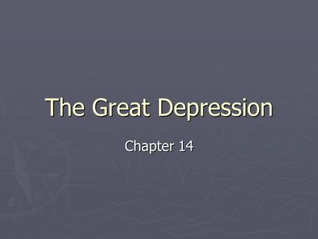 The Great Depression Chapter 14. The Nation's Sick Economy 14.1 I. Economic troubles on the horizon A. Industries in trouble B. Farmer's need a lift 1.