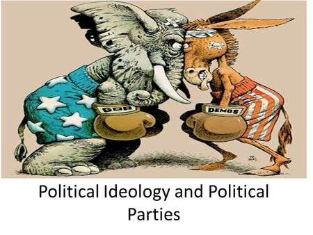 Political Ideology and Political Parties. Ideology v. Political Parties IDEOLOGY: the different approaches or beliefs people use to influence how they.