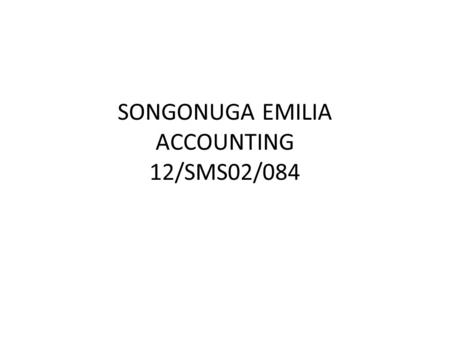 SONGONUGA EMILIA ACCOUNTING 12/SMS02/084. 1. Introduction One goal of human-computer interaction research is to reduce the demands on users when using.