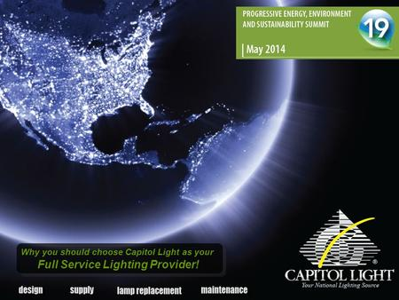 Why you should choose Capitol Light as your Full Service Lighting Provider!