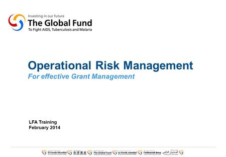 Operational Risk Management (ORM) Framework in Banks and Financial Institutions