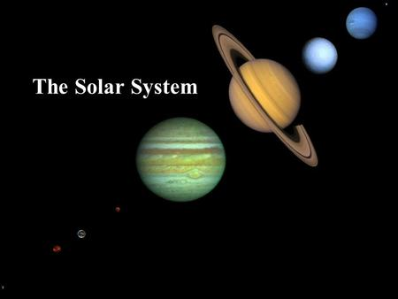 The Solar System. What's in Our Solar System? Our Solar System consists of a central star (the Sun), the eight planets orbiting the sun, moons, asteroids,