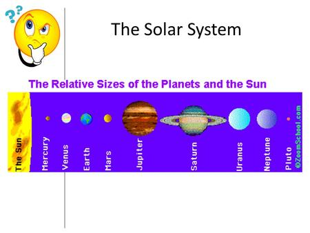 The Solar System. Solar system – consists of the sun and, planets, and other objects that orbit the sun Nebular model – states that the sun and planets.