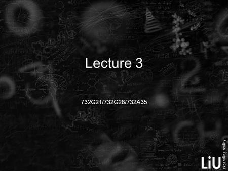 732G21/732G28/732A35 Lecture 3. Properties of the model errors ε 4. ε are assumed to be normally distributed 2 1. 2. 3.