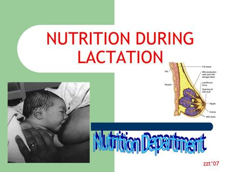 NUTRITION DURING LACTATION zzt'07. In-Hospital Breastfeeding Rates (US, 2001) Healthy People 2010 Goal.