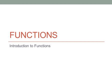 FUNCTIONS Introduction to Functions. Do Now Draw each of the following relations as a mapping diagram.