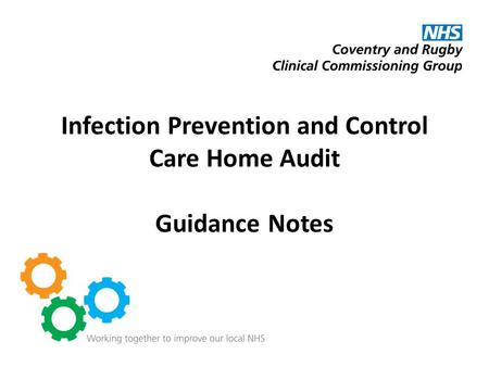 Infection Prevention and Control Care Home Audit Guidance Notes.