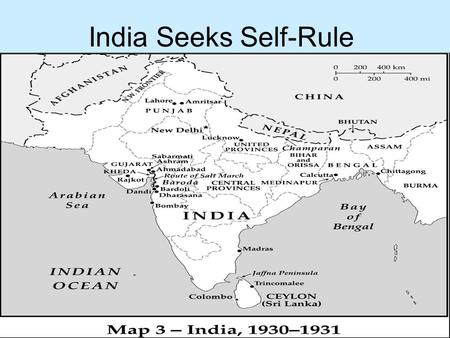 India Seeks Self-Rule.  India moved toward independence after WW I because they were frustrated with British rule.