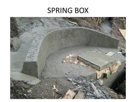 SPRING BOX. Using the following presentation assumes that individuals have a basic knowledge of construction. The user should be able to adjust measurements.