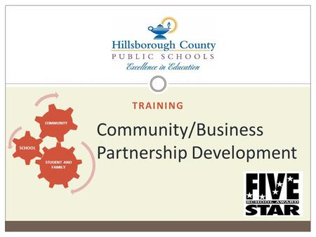 TRAINING Community/Business Partnership Development STUDENT AND FAMILY SCHOOL COMMUNITY.