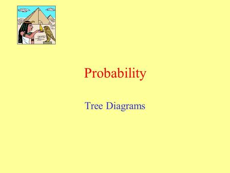 Probability Tree Diagrams. Can be used to show the outcomes of two or more events. Each Branch represents the possible outcome of one event. Probability.