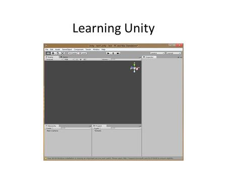 Learning Unity. Getting Unity