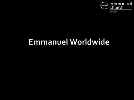 Emmanuel Worldwide. So God created man in his own image, in the image of God he created him; male and female he created them. Genesis 1:27.
