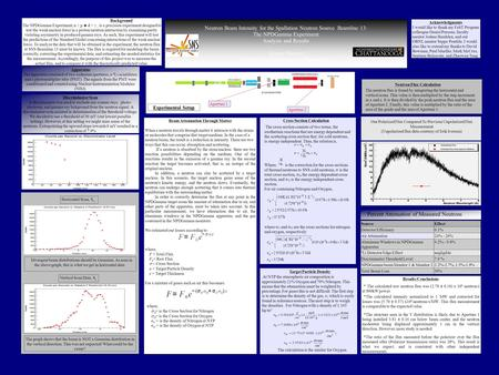 Neutron Beam Intensity for the Spallation Neutron Source Beamline 13: The NPDGamma Experiment Analysis and Results Jeremy Stewart University of Tennessee.