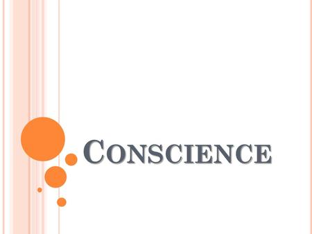 conscience in christian tradition essay Write a summary/reaction (s/r) of the egan reading christian traditions that emphasize confronting the truth: conscience in the catholic tradition.