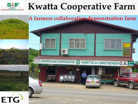 . Suriname in Action Kwatta Cooperative Farm A farmers collaborative demonstration farm.